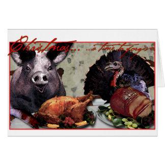 Navidad… una época de perdonar tarjeta de felicitación