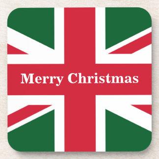 Navidad Union Jack Posavasos De Bebidas