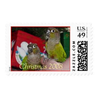 Navidad verde 2007 de la mejilla - modificado para timbres postales