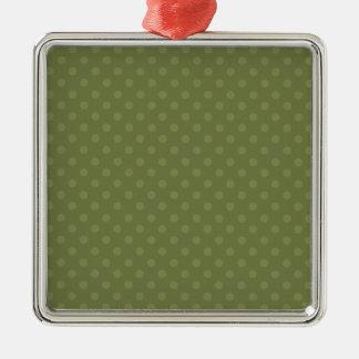 Navidad verde del personalizado del fondo del adorno navideño cuadrado de metal