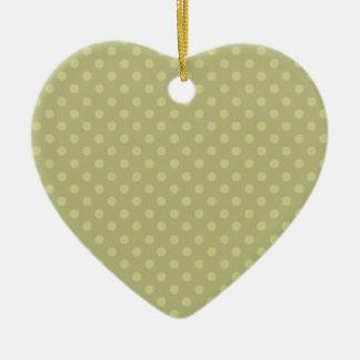 Navidad verde del personalizado del fondo del adorno navideño de cerámica en forma de corazón