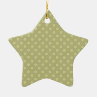 Navidad verde del personalizado del fondo del adorno navideño de cerámica en forma de estrella