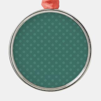 Navidad verde del personalizado del fondo del adorno navideño redondo de metal