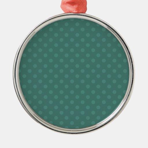Navidad verde del personalizado del fondo del luna adornos de navidad