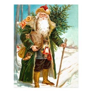 Navidad verde Papá Noel del terciopelo del Victori Membrete A Diseño