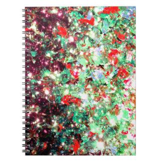 Navidad verde roja de Ombre del navidad de la Libro De Apuntes Con Espiral
