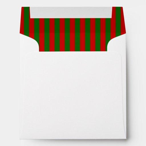 Navidad verde rojo ENV de lujo de la raya