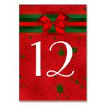 Navidad verde rojo festivo de la cinta del arco de