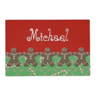 Navidad verde rojo Michael conocido del hombre de Tapete Individual