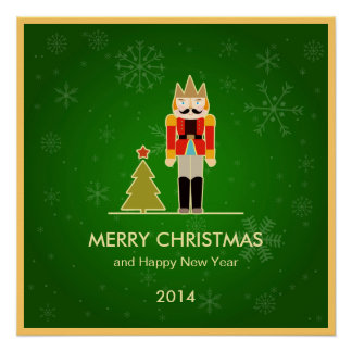 Navidad verde - saludo del día de fiesta del casca perfect poster