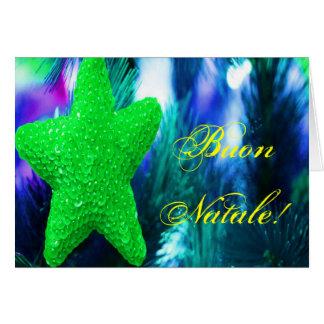 Navidad verde STAR-II de Buon Natale del navidad Tarjeta De Felicitación