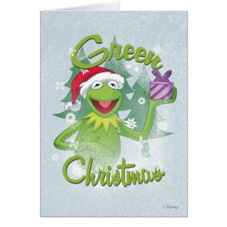 Navidad verde tarjeton