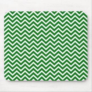 Navidad verde y zigzag blanco de Chevron Alfombrillas De Ratones