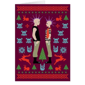 Navidad vicioso tarjeta de felicitación