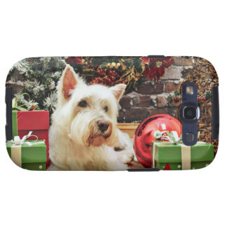 Navidad - Westie - Bailey Samsung Galaxy S3 Protector