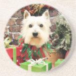 Navidad - Westie - Sammy Posavasos Manualidades