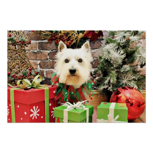 Navidad - Westie - Sammy Posters