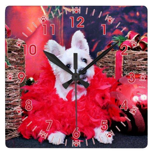 Navidad - WestieJack - señora Reloj
