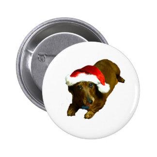Navidad Wienerdog Pin