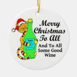 """Navidad Winey del gato """"… y a todo un poco de buen Adorno Redondo De Cerámica"""