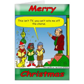 navidad x54 que canta a críticos tarjeta de felicitación