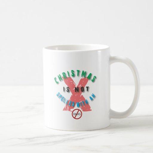 navidad x.ai no deletreado taza básica blanca