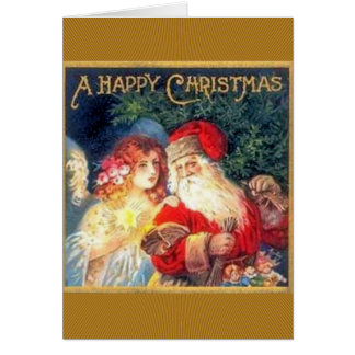 Navidad y hada del padre tarjeta de felicitación