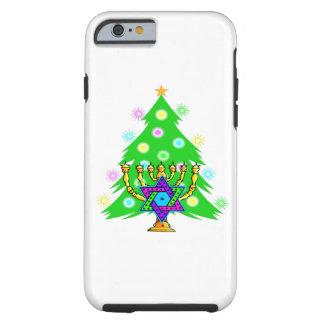 Navidad y Jánuca Funda Para iPhone 6 Tough