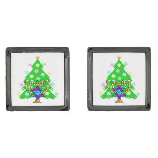 Navidad y Jánuca Gemelos Metalizados