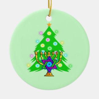 Navidad y Jánuca junto Ornamento Para Reyes Magos