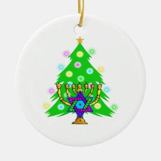Navidad y Jánuca junto Adornos