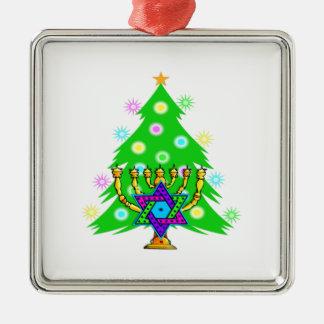 Navidad y Jánuca junto Adorno De Reyes
