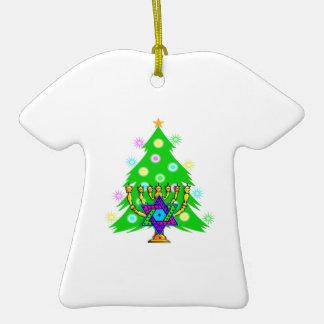 Navidad y Jánuca junto Adorno De Navidad