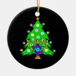 Navidad y Jánuca junto Ornamentos Para Reyes Magos