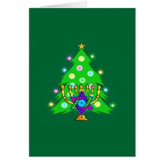 Navidad y Jánuca junto Tarjeta De Felicitación