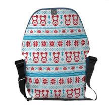 Navidad y modelo hecho punto invierno bolsa messenger