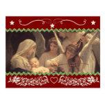 Navidad y navidad {I, horizontales} Tarjeta Postal