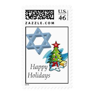 Navidad y sello de Hanukah