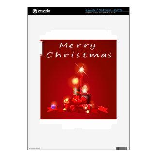 Navidad y velas iPad 3 pegatinas skins