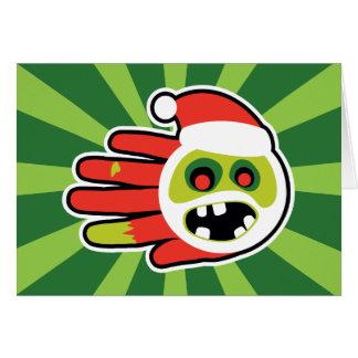 Navidad y zombi Santa del día de fiesta ningunas g Tarjeta De Felicitación