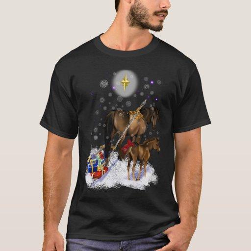 Navidad yegua y camiseta del potro