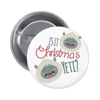 Navidad Yeti Pin Redondo De 2 Pulgadas