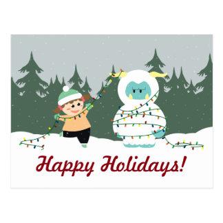 Navidad Yeti Tarjeta Postal