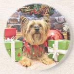 Navidad - Yorkie - Chloe Posavasos Personalizados