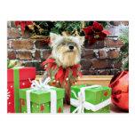 Navidad - Yorkie - Keesha Postal