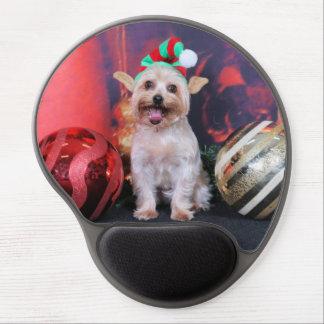 Navidad - Yorkie - Tasha Alfombrilla Gel