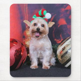 Navidad - Yorkie - Tasha Alfombrilla De Ratón