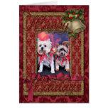 Navidad - Yorkie - Zoe y Dori Felicitacion