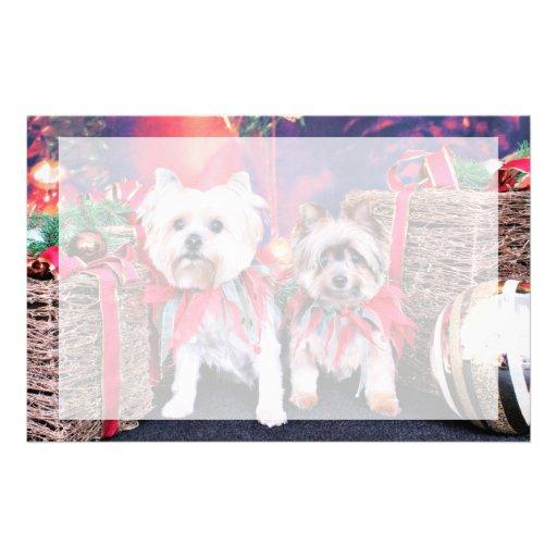 Navidad - Yorkie - Zoe y Dori Papeleria Personalizada