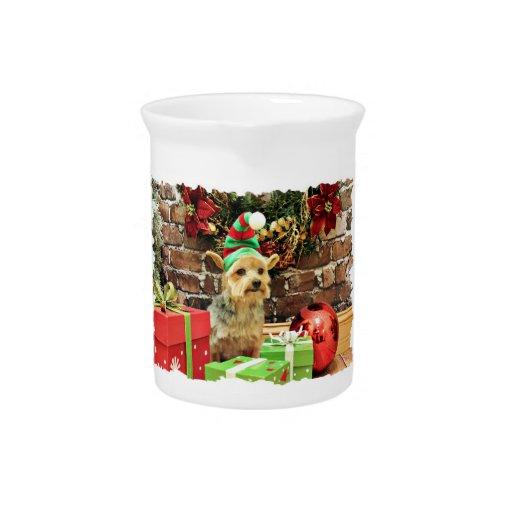 Navidad - Yorkshire Terrier - Vinnie Jarrón